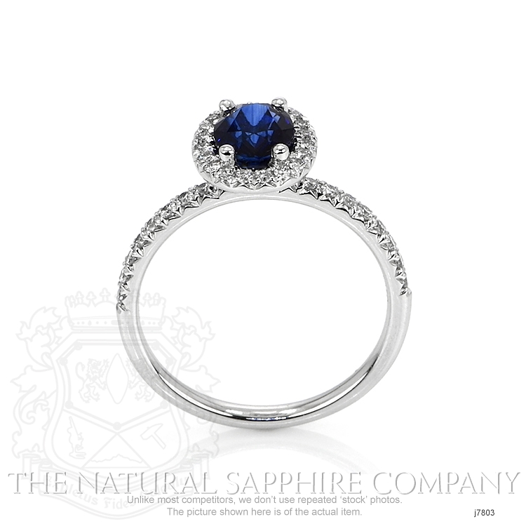1.31ct Blue Sapphire Ring Image 4