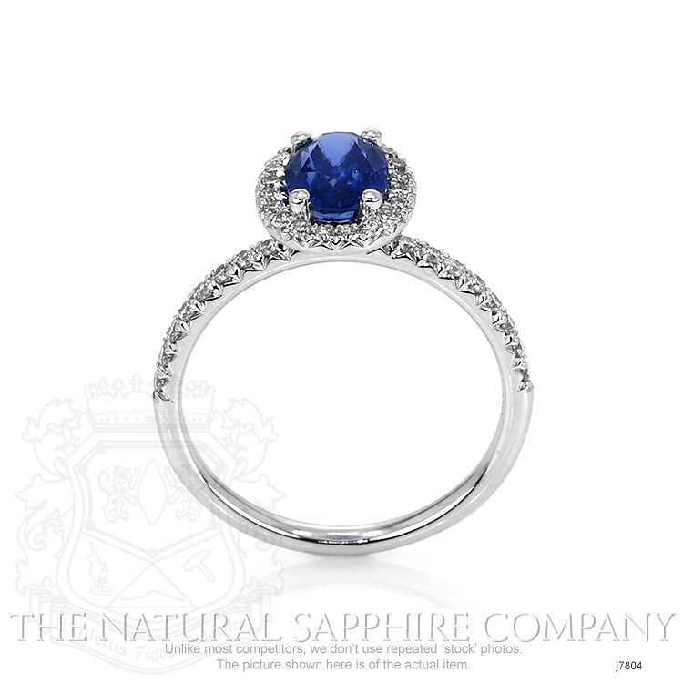 1.39ct Blue Sapphire Ring Image 4