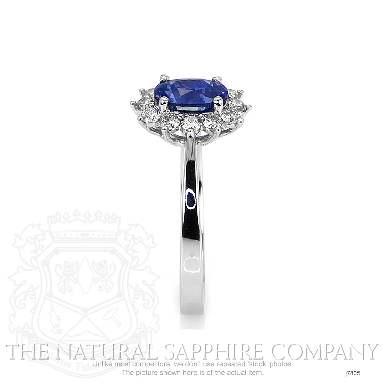1.04ct Blue Sapphire Ring Image 3