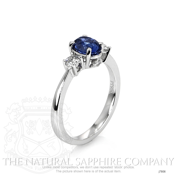 1.26ct Blue Sapphire Ring Image 2