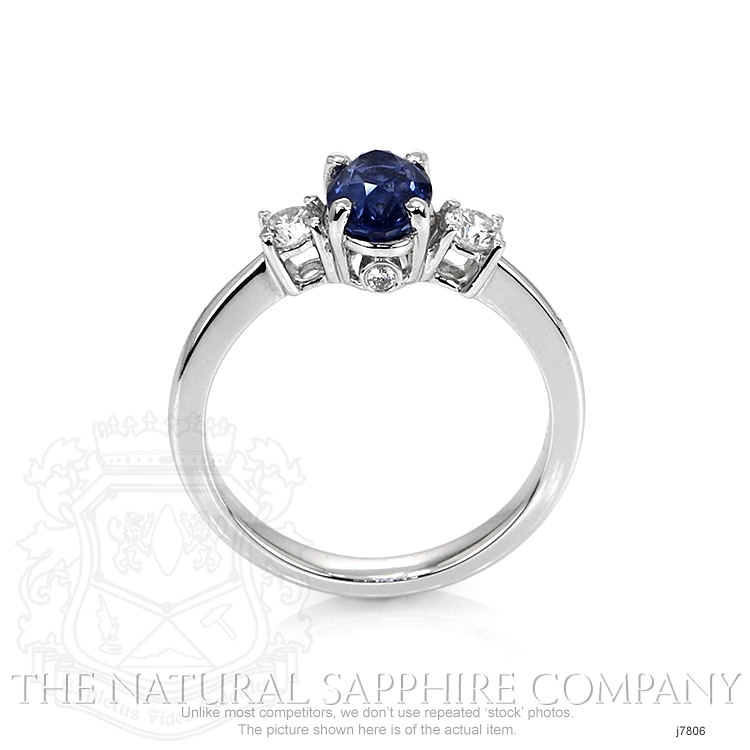 1.26ct Blue Sapphire Ring Image 4