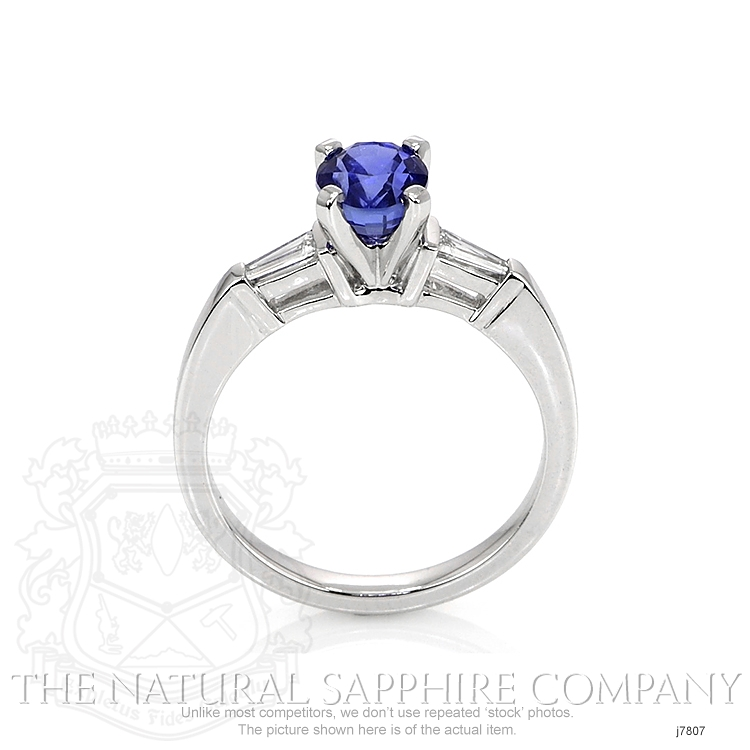 1.35ct Blue Sapphire Ring Image 4