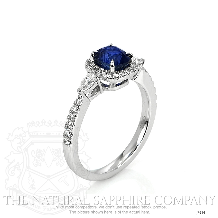 1.55ct Blue Sapphire Ring Image 2