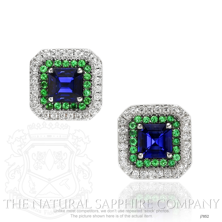 3.03ct Blue Sapphire Earring Image