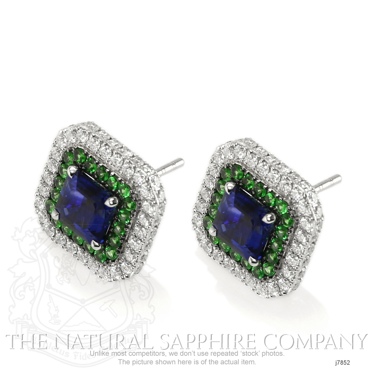 3.03ct Blue Sapphire Earring Image 3