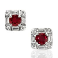 1.20ct Ruby Earring - J7854