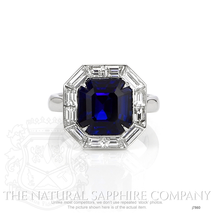 6.01ct Blue Sapphire Ring Image