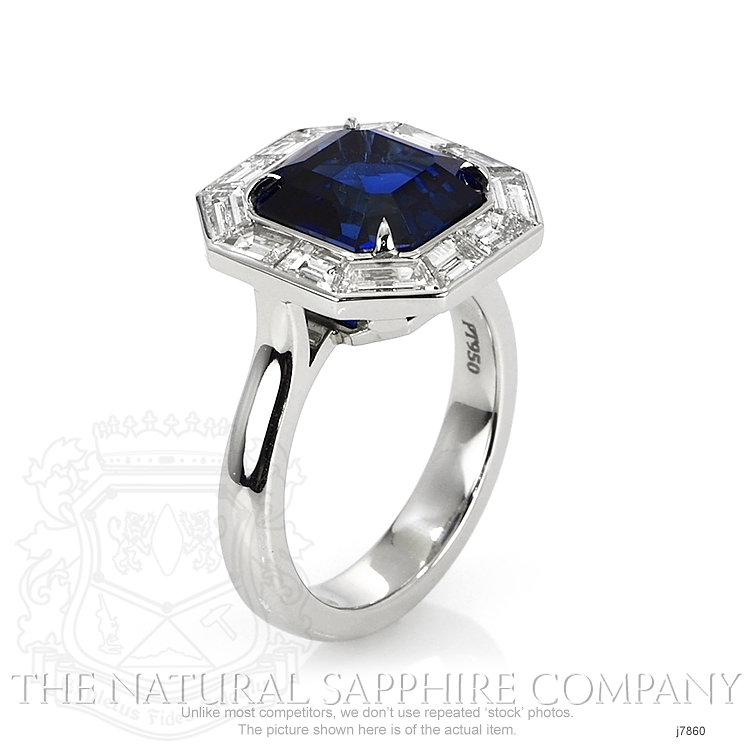 6.01ct Blue Sapphire Ring Image 2