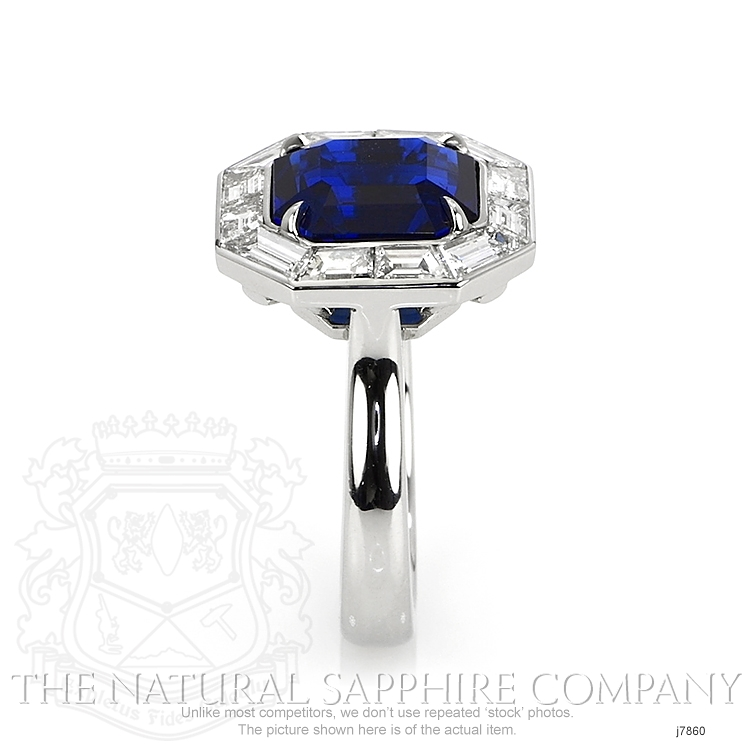 6.01ct Blue Sapphire Ring Image 3