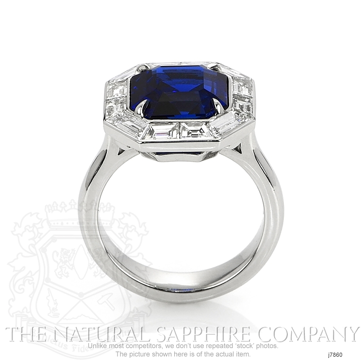 6.01ct Blue Sapphire Ring Image 4