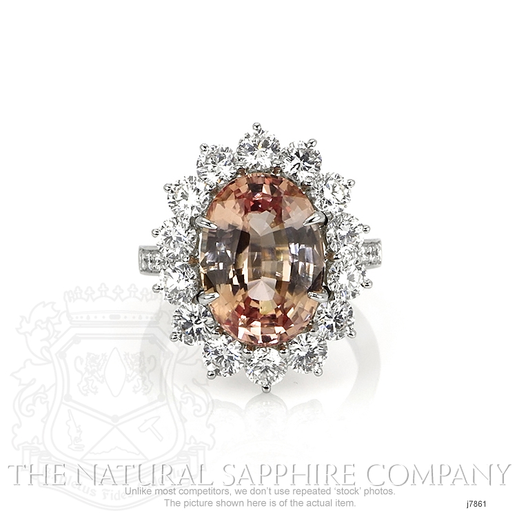 7.82ct Padparadscha Sapphire Ring Image