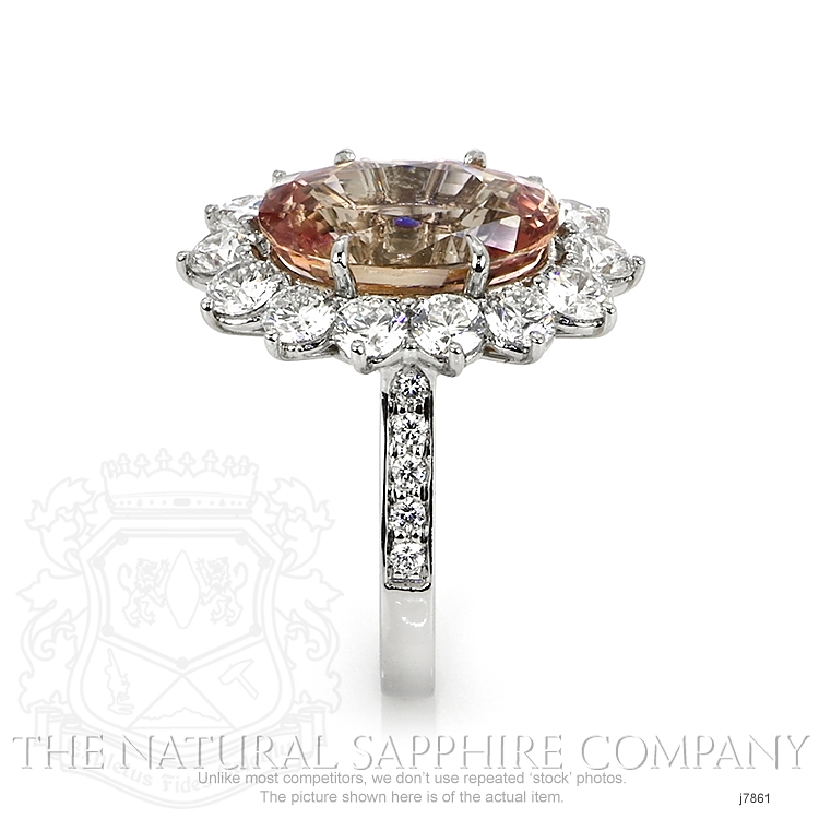 7.82ct Padparadscha Sapphire Ring Image 3