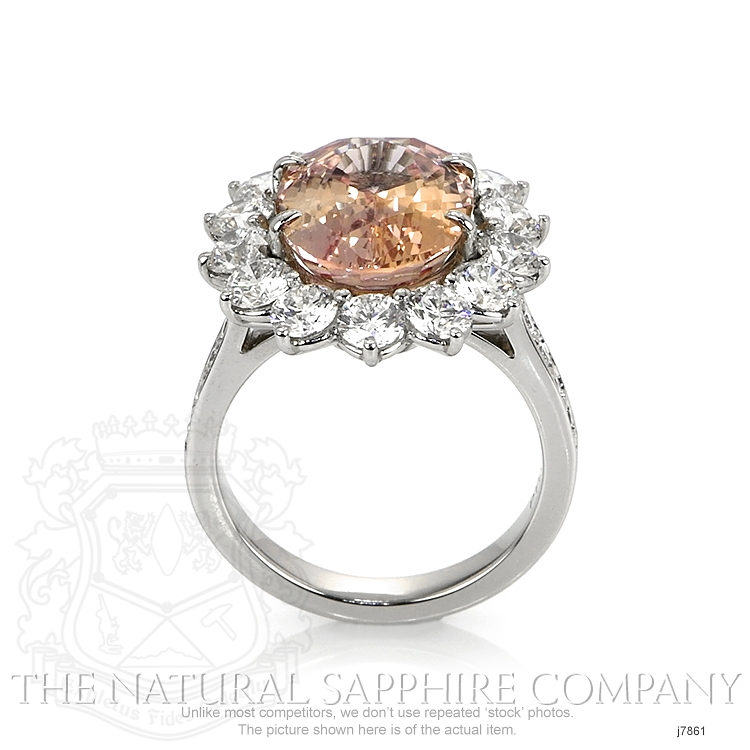 7.82ct Padparadscha Sapphire Ring Image 4