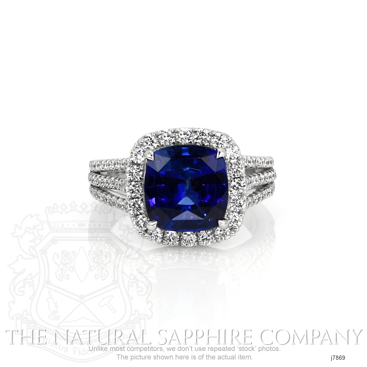 4.11ct Blue Sapphire Ring Image