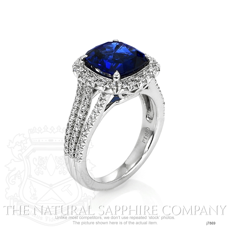 4.11ct Blue Sapphire Ring Image 2