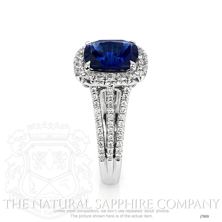 4.11ct Blue Sapphire Ring Image 3