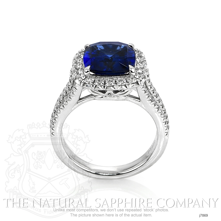 4.11ct Blue Sapphire Ring Image 4