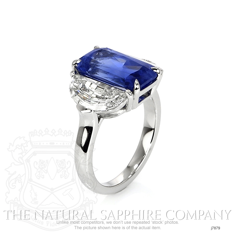6.03ct Blue Sapphire Ring Image 2
