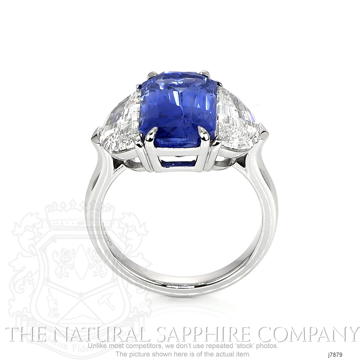 6.03ct Blue Sapphire Ring Image 4