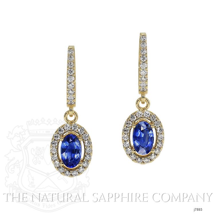 0.75ct Blue Sapphire Earring Image