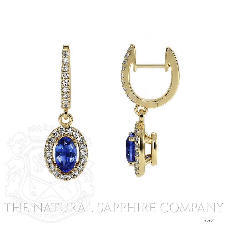 0.75ct Blue Sapphire Earring Image 2