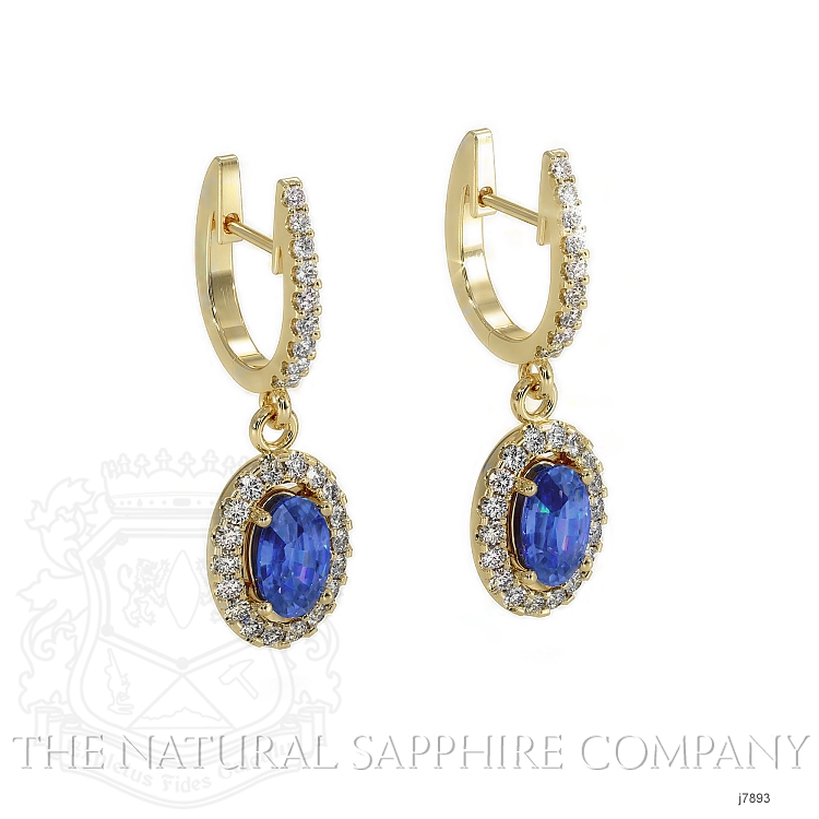 0.75ct Blue Sapphire Earring Image 3