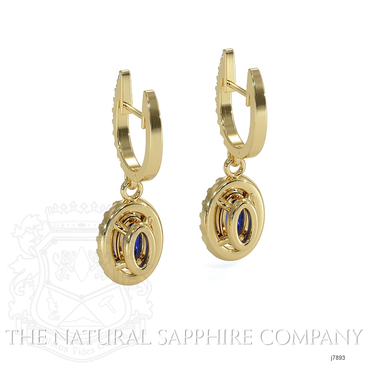 0.75ct Blue Sapphire Earring Image 4