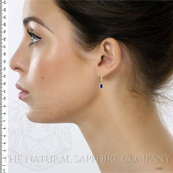0.75ct Blue Sapphire Earring Image 5