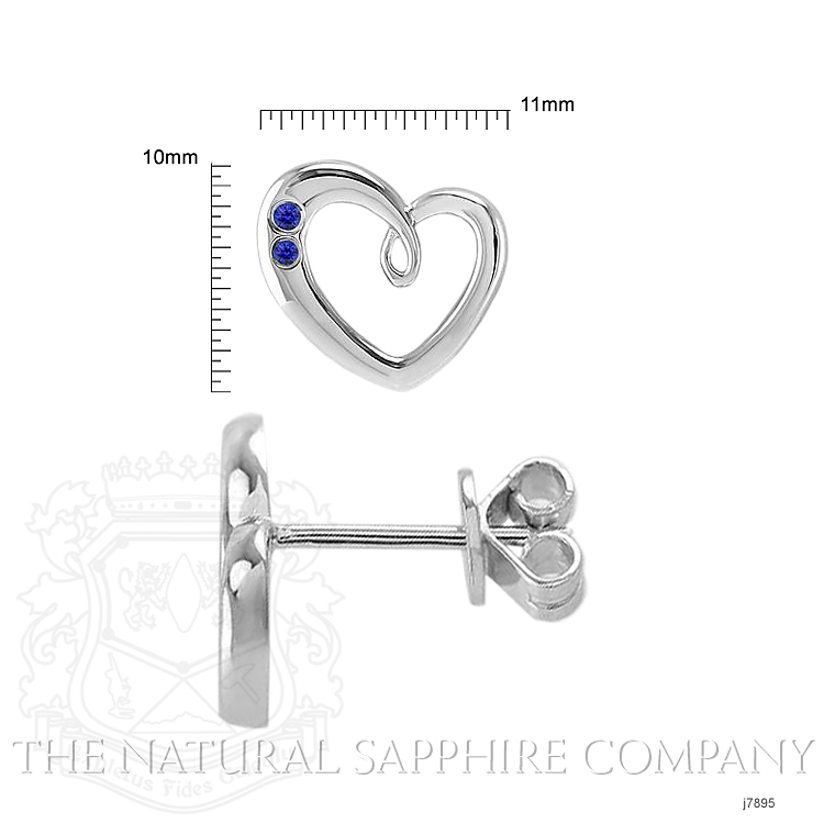 0.10ct Blue Sapphire Earring Image 2