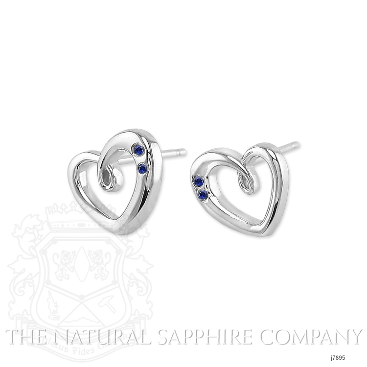 0.10ct Blue Sapphire Earring Image 3