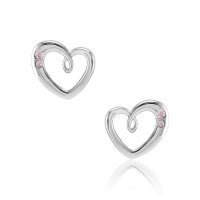 0.10ct Pink Sapphire Earring - J7896