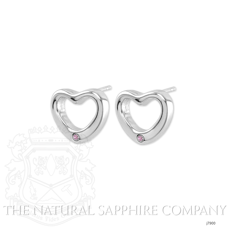0.02ct Pink Sapphire Earring Image 3