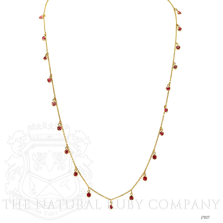 2.00ct Ruby Necklace Image 2