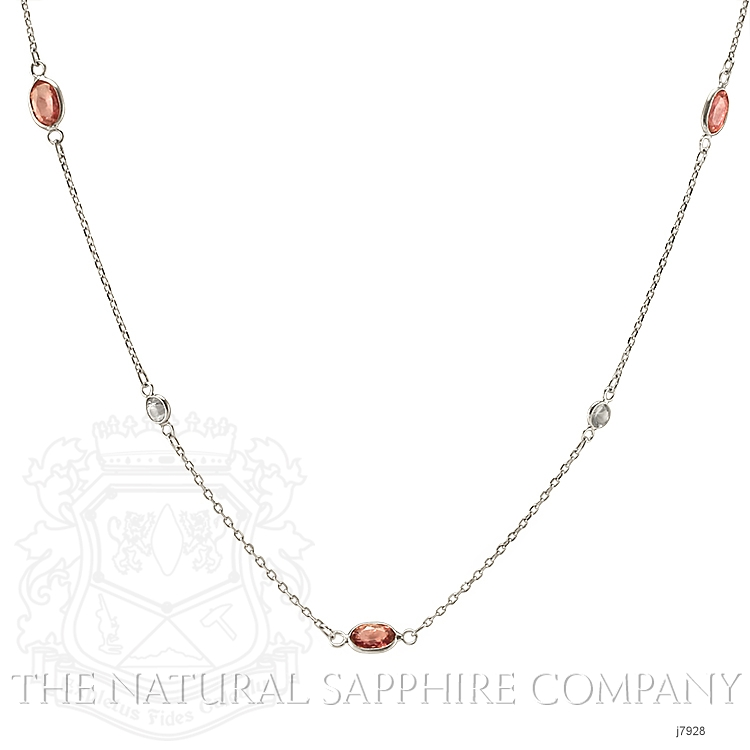 2.10ct Pink Sapphire Necklace Image