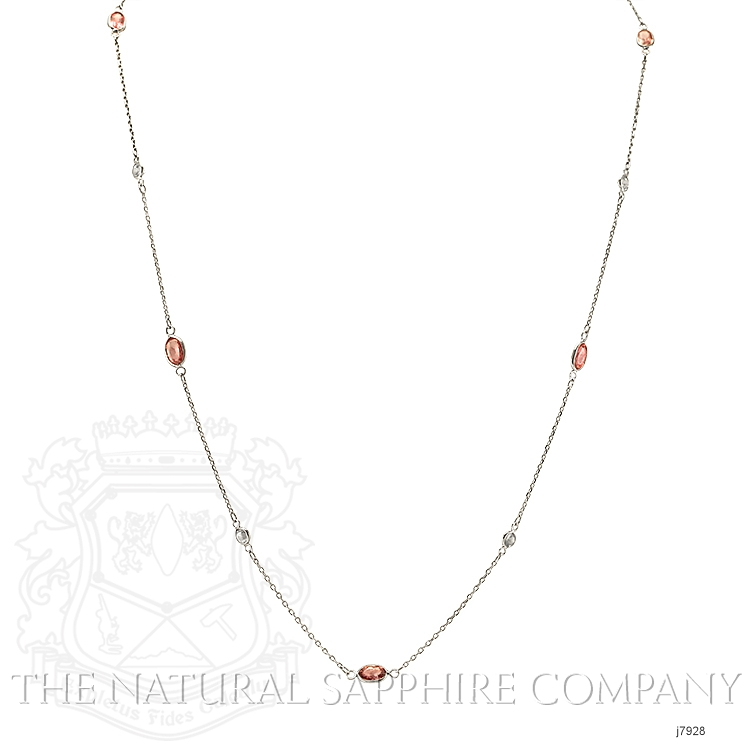 2.10ct Pink Sapphire Necklace Image 2