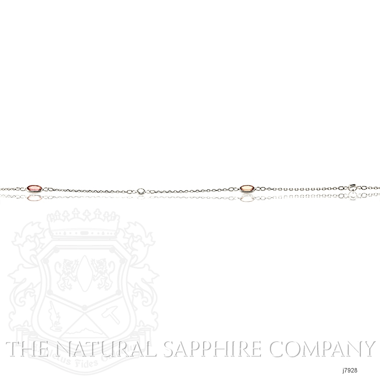 2.10ct Pink Sapphire Necklace Image 4