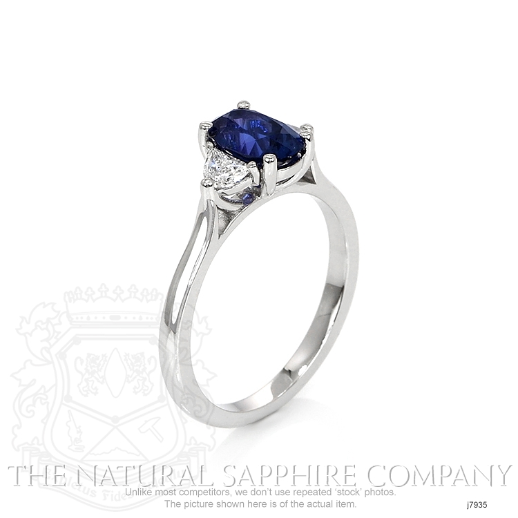 1.16ct Blue Sapphire Ring Image 2