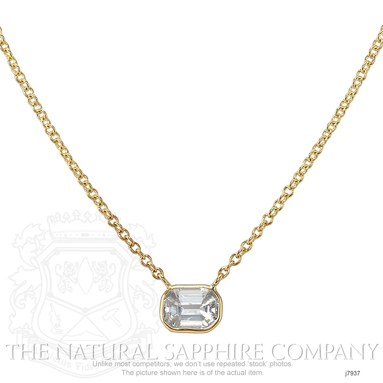 0.85ct White Sapphire Necklace Image