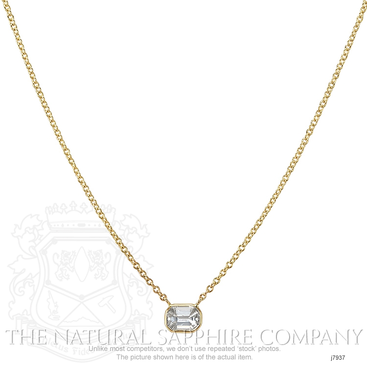 0.85ct White Sapphire Necklace Image 2