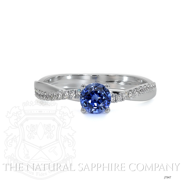 0.70ct Blue Sapphire Ring Image