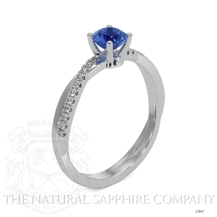0.70ct Blue Sapphire Ring Image 2