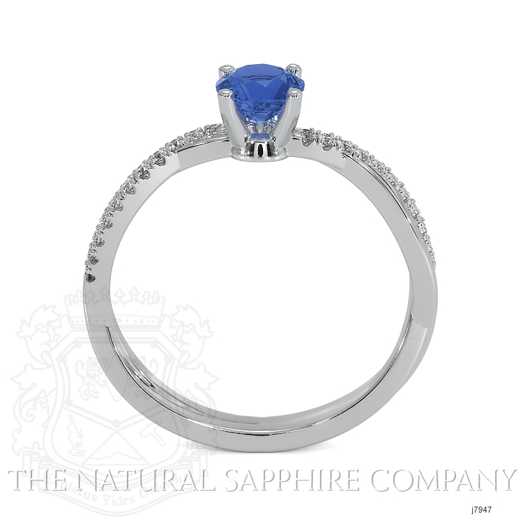 0.70ct Blue Sapphire Ring Image 4