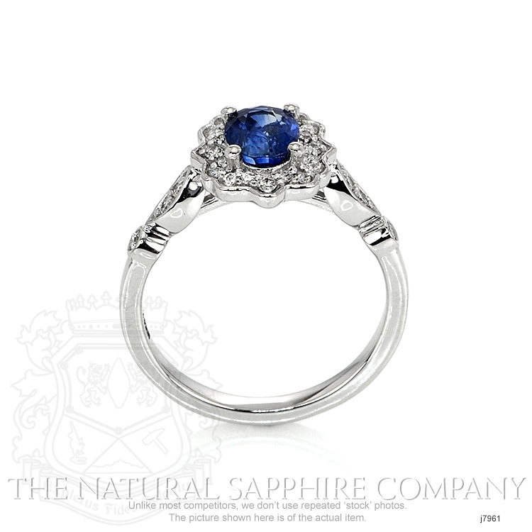 1.06ct Blue Sapphire Ring Image 4