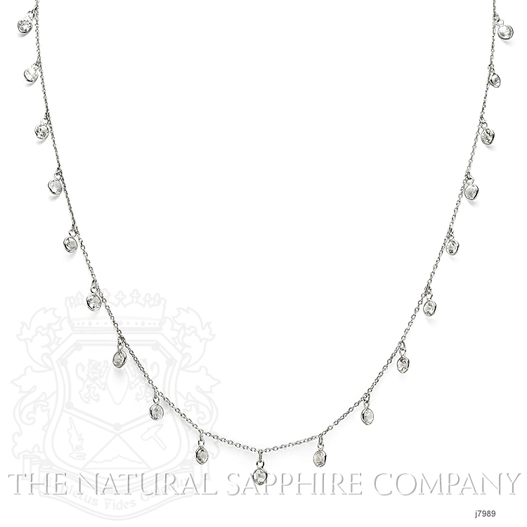 3.00ct White Sapphire Necklace Image