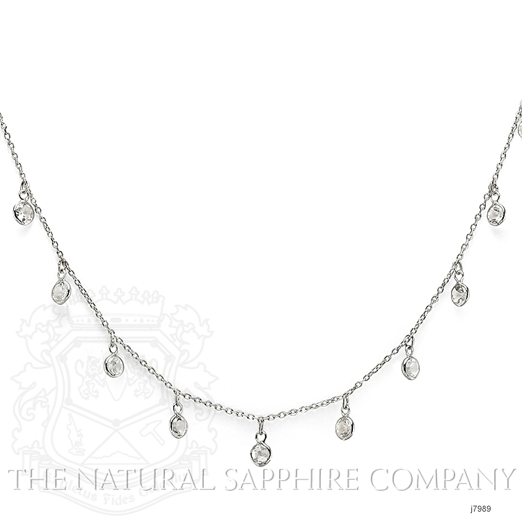 3.00ct White Sapphire Necklace Image 2