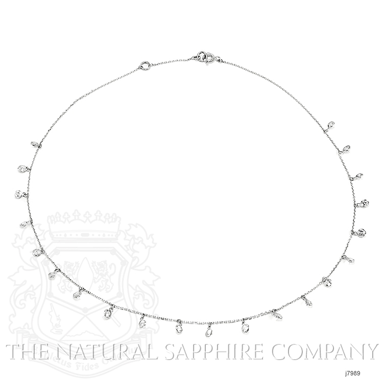 3.00ct White Sapphire Necklace Image 3