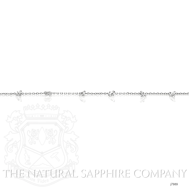 3.00ct White Sapphire Necklace Image 4