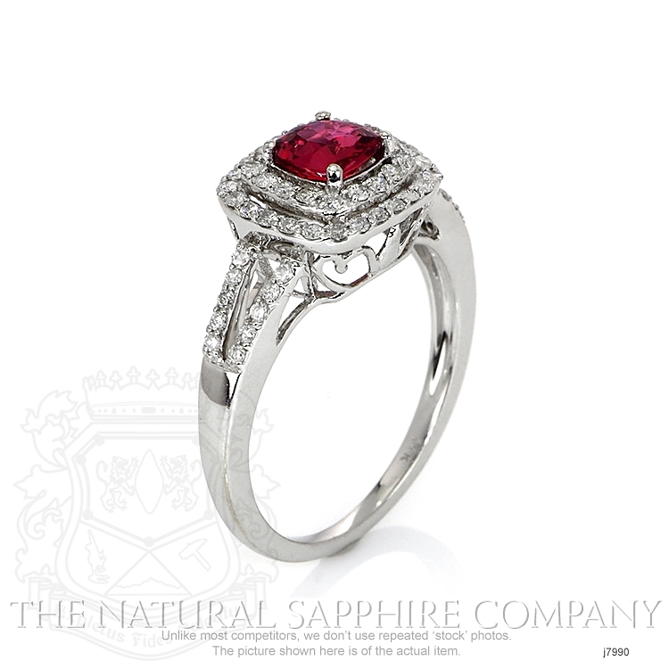 1.03ct Pink Sapphire Ring Image 2