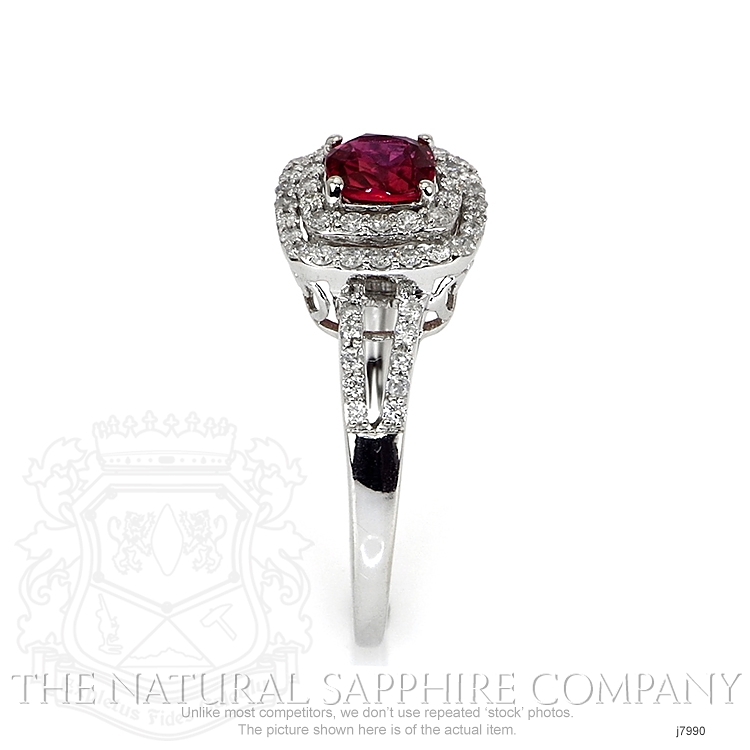 1.03ct Pink Sapphire Ring Image 3