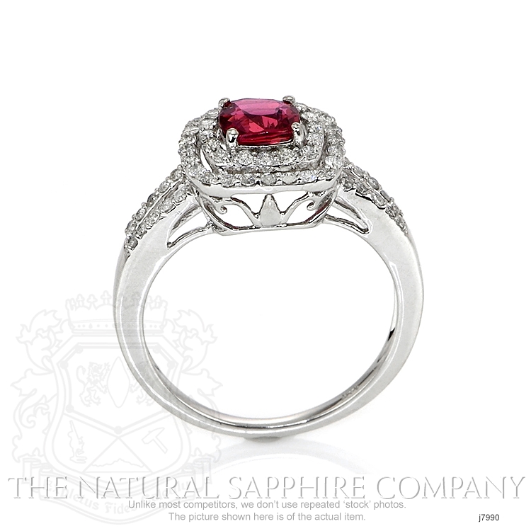 1.03ct Pink Sapphire Ring Image 4